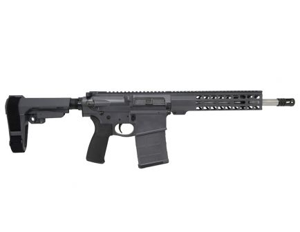 "PSA Custom Gen3 PA10 12.5"" Carbine-Length .308 Win 1/10 SS 10"" Slim-Line MLOK SBA3 Pistol - Grey"