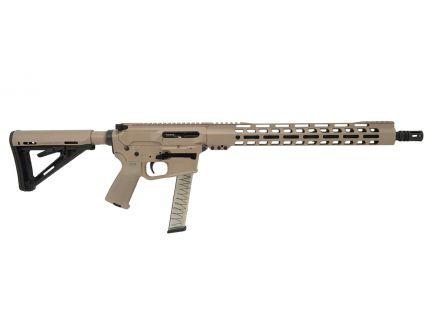 "PSA Custom 16"" 9mm 1/10 Nitride 15"" Slim-Line MOE Rifle, Tan/Black"