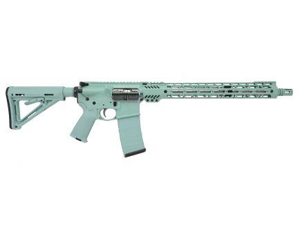 "PSA Custom 16"" SS Mid-Length 5.56 NATO 15"" Cross-Cut Lightweight MLOK MOE Rifle - Robins Egg"