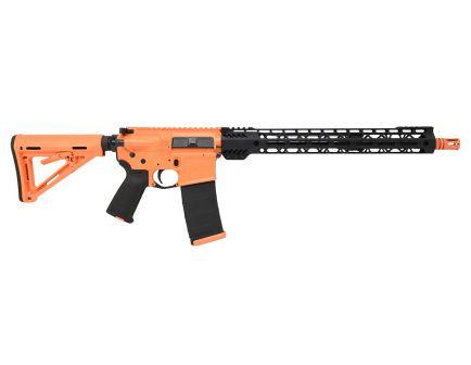 "PSA Custom 16"" Mid-Length 5.56 NATO 1/7 Nitride 15"" Cross-Cut Lightweight MLOK MOE Rifle, Coral/Black"