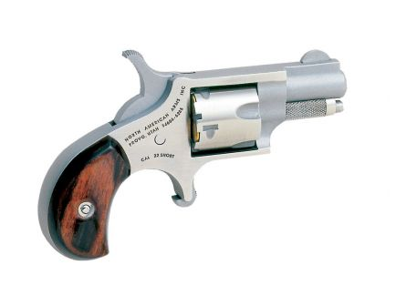 """North American Arms 1 1/8"""" .22 Short Mini Revolver, Stainless"""