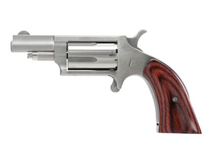 """North American Arms 1.625"""" .22 WMR Boot Grip Mini Revolver, Stainless"""