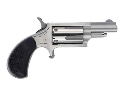 """North American Arms 1.625"""" .22 Magnum Mini Revolver Carry Combo With Holster, Stainless"""