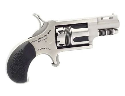 """North American Arms Wasp 1.125"""" .22 LR Revolver, Stainless"""