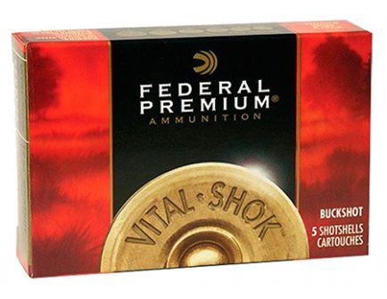 "Federal 12ga 3"" Magnum 41 Pellets 4 Buck Vital-Shok Shotshell Ammunition 5rds - P158 4B"
