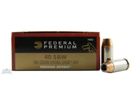 Federal 40 S&W 180gr Hydra-Shok Ammunition 20rds - P40HS1