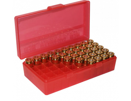 MTM FlipTop Ammo Box 38spl .357 MAG-Red-50rd-P50-38-29