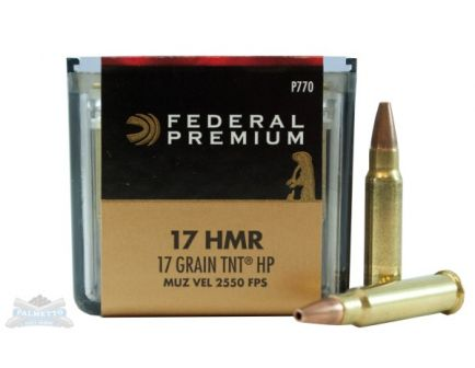 Federal 17 HMR 17gr Speer TNT V-Shok Ammuniton 50rds - P770