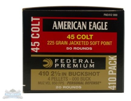 Federal 410 & 45 Colt AE & PD Combo Pk - PAE412 000