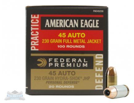 American Eagle 45 Auto 230gr FMJ & JHP Comb-45 Auto- -PAE45230