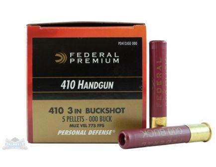 """Federal 410ga 3"""" 5 Pellet 000 Buck Ammunition 20rds - PD413JGE 000"""