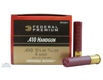 "Federal 410ga 2 1/2"" 4 Buck Ammunition 20rds - PD412JGE 4"