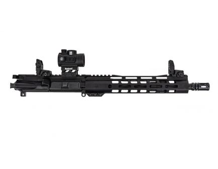 """PSA 11.5"""" 5.56 1/7 Phosphate 10.5"""" M-lok Upper - With BCG, CH, & MBUS Sight Set and Bushnell TRS-26 Red Dot"""
