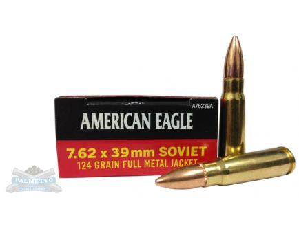 American Eagle 7.62x39mm 124gr FMJ Ammunition 20rds - AE76239A