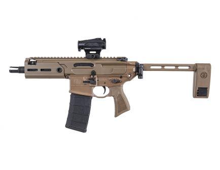 Sig Sauer MCX Rattler 300BLK Pistol w/ ROMEO4T Red Dot Optic, Coyote Tan - PMCX-300B-5B-TAP-COY-RX