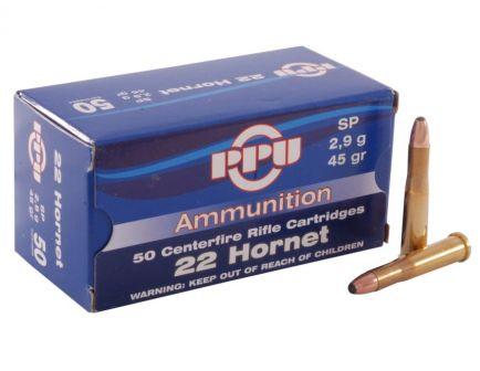 Prvi Partizan .22 Hornet SP 45 gr 50 Rounds Ammunition - PP22H