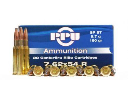 PRVI Partizan 7.62X54R 150gr SPRN Ammunition 20rds - PP7.64