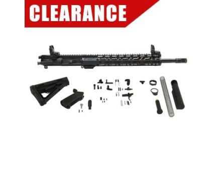 "PSA 16"" Carbine-Length 5.56 NATO 1/7 Nitride 13.5"" Lightweight M-Lok MOE Rifle Kit w/MBUS Sight Set"