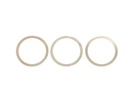 PSA Custom AR-15 NSR Style Barrel Nut Shims,(3pk), Matte Stainless