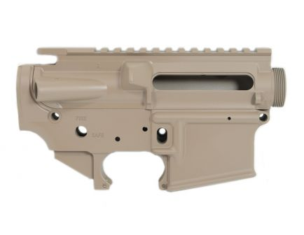 PSA Custom AR-15 5.56 Forged Upper & Lower Receiver Set, Stripped, Tan - PA15CUSTOMTANSET