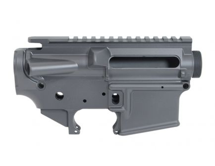 PSA Custom AR-15 5.56 Forged Upper & Lower Receiver Set, Stripped, Gray