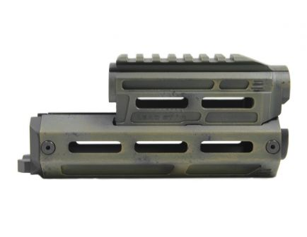Lead Star Arms AK Billet Aluminum Handguard, Battle Worn Green
