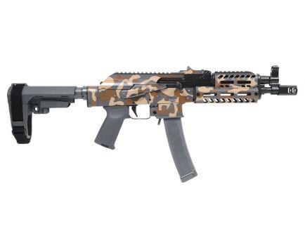 "PSA Custom ""Urban Camo"" AK-V 9mm MOE ALG Fire Control Group Pistol w/ SBA3 Brace, Camo"