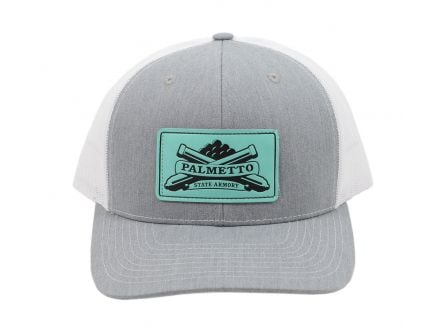 PSA Trucker Hat Heather Grey/White - Teal Patch