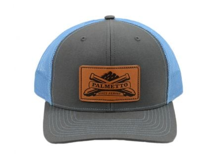 PSA Trucker Hat Charcoal/Columbia Blue - Light Brown Patch