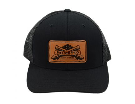 PSA Trucker Hat Black/Black - Light Brown Patch