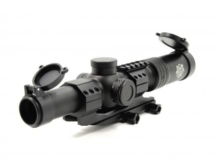 PSA Custom 1-4 x 24 L4 Illuminated Reticle Scope w/ Cantilever Mount