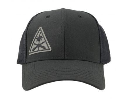 PSA Custom AK Roll Mark Grey Leather Patch Hat, Black