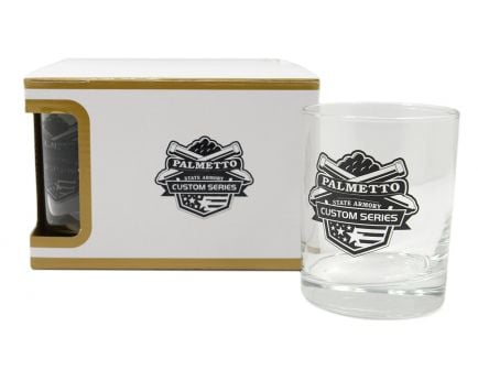 PSA Custom Series Logo Premium 4 Piece Low Ball Glass Set