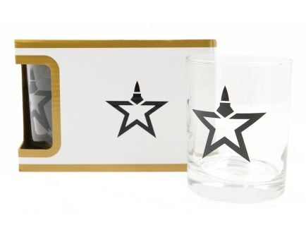 Lead Star Logo Premium 4 Piece Low Ball Glass Set