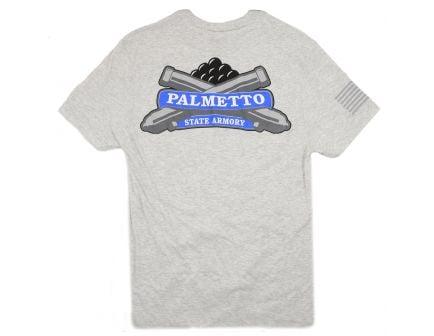 PSA Logo T Shirt - Flag Sleeve - White Heather