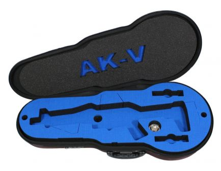 PSA Custom AKV Padded Violin Case - Black with Blue Custom Foam