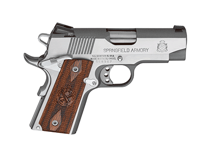 """Springfield Armory Pistol 1911-A1 45 3.5"""" Loaded Ultra Compact Stainless Steel PX9161LP"""