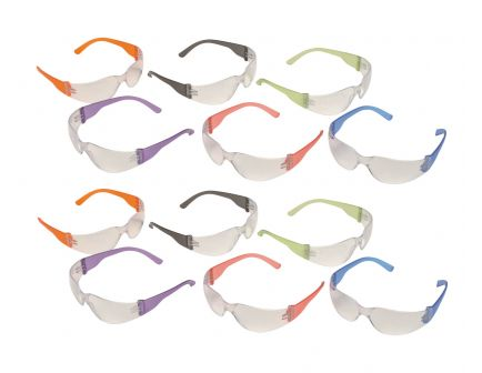 Pyramex Intruder Multi Color Eye Protection, 12 Pairs