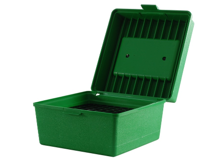 MTM Deluxe R100 Series Rifle 100rd Ammo Box, Green