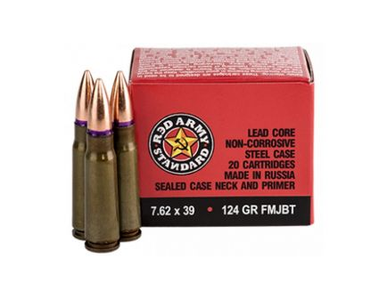 Red Army Standard 7.62x39mm 124 gr FMJ 20 Rounds Ammunition