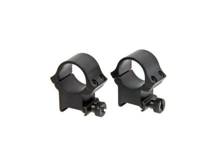"""Redfield Hunting/Shooting Rifle 1"""" High Aluminum 4-Hole Scope Ring, Matte Black - 47332"""