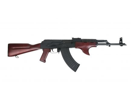 PSAK-47 GF3 Forged Classic Red Wood Shark Fin with Cheese Grater Upper Hand Guard Rifle - 51655112881