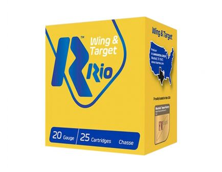 "RIO Wing and Target 20 Gauge 2 3/4"" 7/8 oz 7.5 Shot 25 Rounds"