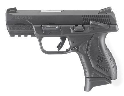 Ruger American Compact 9mm Pistol With Manual Safety, Black