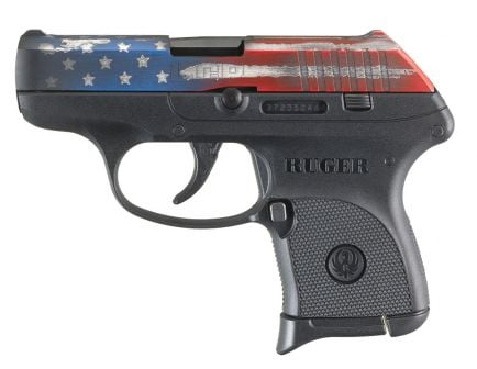 Ruger LCP .380 ACP Pistol, American Flag Cerakote