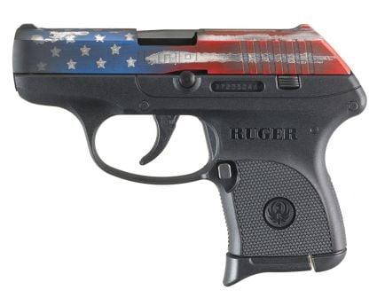Ruger LCP .380 ACP Pistol, American Flag Cerakote