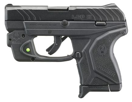 Ruger LCP II .380 ACP Pistol With Viridian Green Laser, Black