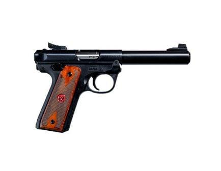 Ruger Mark IV .22 LR Pistol With Wood Grips, Blued