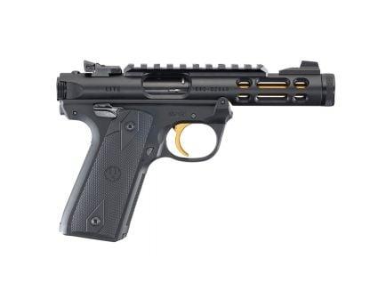 Ruger Mark IV 22/45 Lite 22 LR Gold Barrel Pistol, Black - 43927