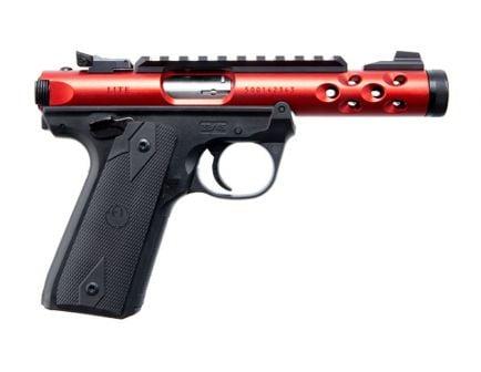 Ruger Mark IV Lite Threaded Barrel .22 LR Pistol | Red